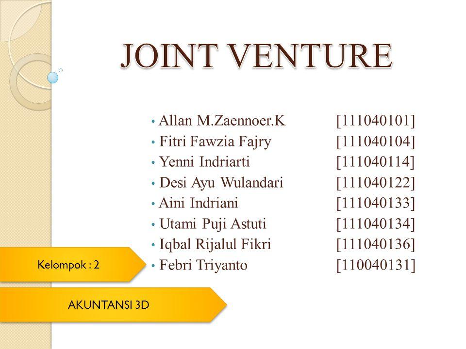 JOINT VENTURE Allan M.Zaennoer.K [111040101]
